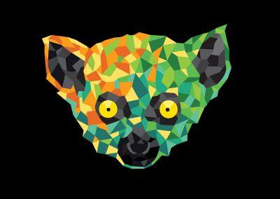 Lemur grafik - couleurs géométriques