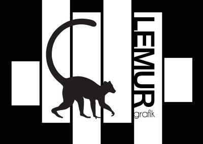vusuel lemur grafik - noir et blanc
