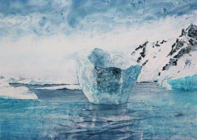 Aquarelle - Vision glaciale