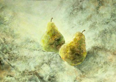 Aquarelle - Deux poires