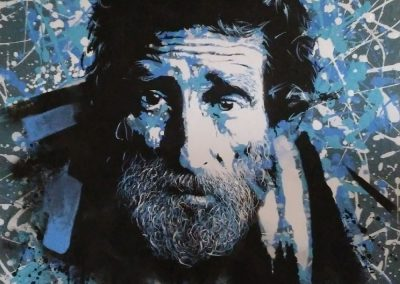 Acrylique - Bleu désarroi