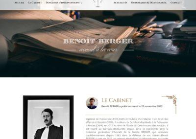 Site Benoit Berger avocats Orléans
